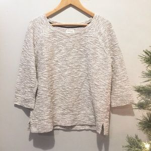 Lou & Grey LOFT Metallic Side Slit Sweater